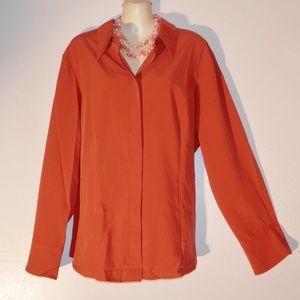 Lane Bryant 18 20 Top Rust Tailored Stretch E546